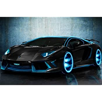 Amazon.com: EH3688 Lamborghini Aventador Tron Modified Customized ...