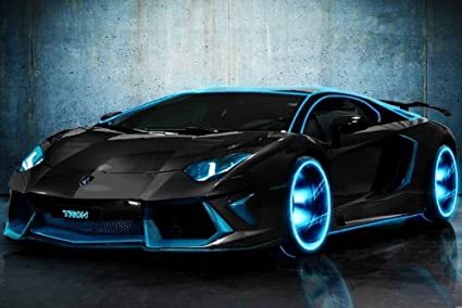 Amazon Com Eh3688 Lamborghini Aventador Tron Modified Customized
