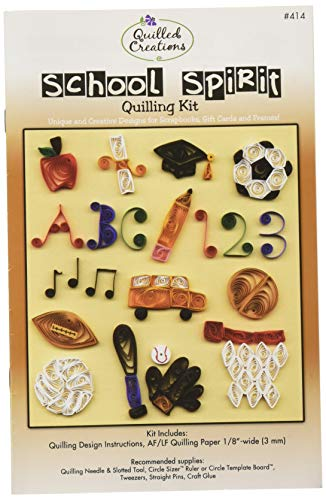 (Quilled Creations 414 School Spirit Quilling Kit, Multicolor)