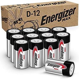 Energizer Max D Batteries, Premium Alkaline D Cell Batteries (12 Battery Count)