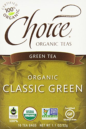Choice Organic Classic Green Tea, 16 Count Box (This Month In History)