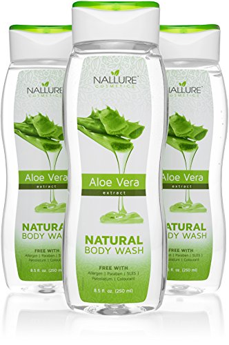 Natural Aloe Vera Body Wash For Dry, Sensitive Skin and Hair - Sulfate-Free, allergens-free Bath and Shower Gel