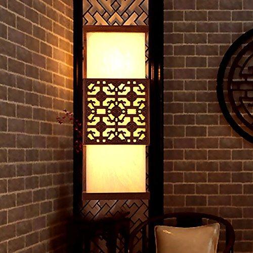CNMKLM Schlafzimmer Bett an der Wand aus Rosenholz Mahagoni Esszimmer Flur Balkon Marmor Lampe 3510