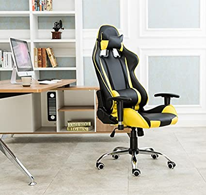 reputable site cb3a5 95933 Professional Gaming Chair Racing Seats Yellow Office Chairs Computer Chair  Rocker(item#251327)