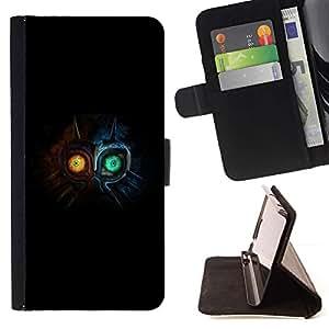 For HTC One M7 Case , Monstruo lindo- la tarjeta de Crédito Slots PU Funda de cuero Monedero caso cubierta de piel