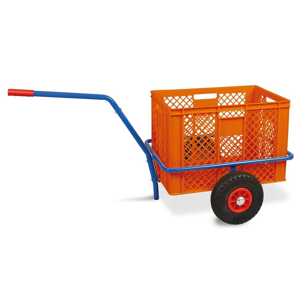 orange Handwagen mit Kunststoffkorb LxBxH 1250 x 640 x 660 mm Tragkraft 200 kg H 410 mm