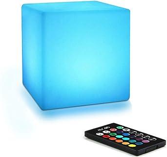 Bedside Table Night Lamp, 10cm LED Cube
