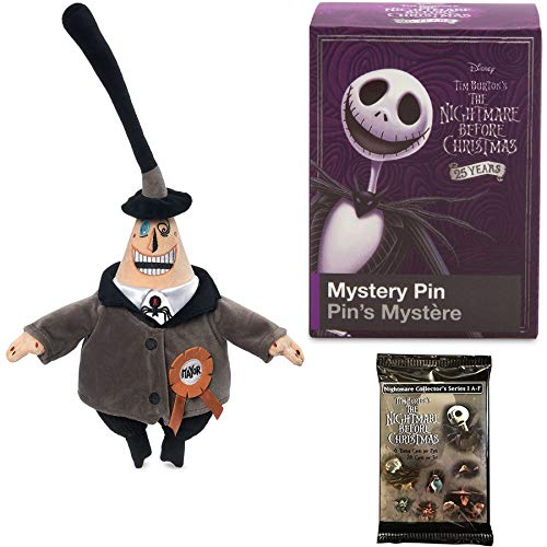 Soft Plush Mayor NBX Nightmare Before Christmas Two Face Soft Pack Collectible Bundled with Trading Cards & Blind Box Collectible Character Pin Item Set ()