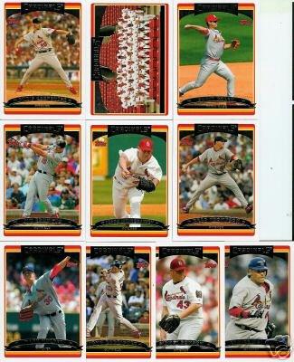 (2006 Topps St. Louis Cardinals Baseball Cards Complete Team Set (24 cards) - Includes 2 Albert Pujols, Scott Rolen, Jim Edmonds, Chris Carpenter, Tony LaRussa, David Eckstein, Team Card, and more - World Series Champions !!)