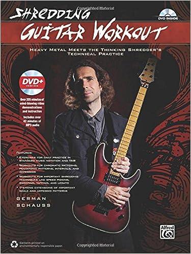 Shredding Guitar Workout: Heavy Metal Meets the Thinking Shredders Technical Practice, Book & DVD: Amazon.es: German Schauss: Libros en idiomas extranjeros