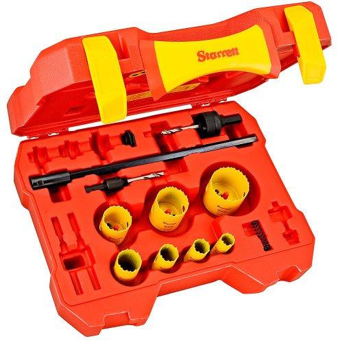12 Piece Hole Saw (Starrett KDP07051-N 12-Piece Fastcut Bimetal Industrial Hole Saw Kit)