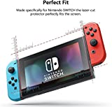 Nintendo Switch [Nano Skin] Screen Protector UltraClear [UV UltraViolet Blocker] Scratch Abrasion Resistance Impact Protection Shatterproof [2PK]