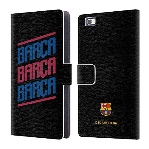 Triple Ale - Official FC Barcelona Triple 2019/20 Forca Barca Leather Book Wallet Case Cover for Huawei P8lite / ALE-L21