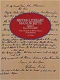 British Literary Manuscripts, Series I, , 0486241246