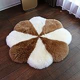 Plush round plum-shaped ground mat Carpet Living room Bedroom carpet round Plum-shaped carpet-B diameter100cm(39inch)