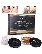 Concealer, Scar Concealer, Tattoo Cover, Tattoo Remover, Professional Waterproof Scar Concealer Hidden Spots Birthmarks Makeup Cover Up Cream Set