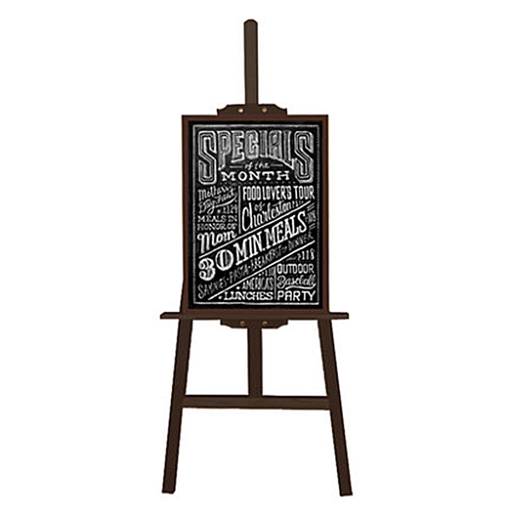 Cornice in legno H Lavagne Lastre Antiche Piccola Lavagna Blackboard Chalkboard con cavalletto per Ristorante Negozio Bambini Istruzione (60x 90cm) Missboard