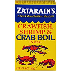 Zatarain's Crab Boil Seasoning;Dry Crab Boil;New Orleans's Tradition Since 1889;3 oz
