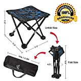 Mini Portable Folding Stool,Folding Camping Stool,Outdoor Folding Chair Slacker Chair for BBQ,Camping,Fishing,Travel,Hiking,Garden,Beach,600D Oxford Cloth with Carry Bag,11.5