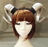 Victorian Sheep Horn Headband Christmas Party Cosplay Horns Headpiece Vintage Steampunk Hair Accessories (Silver)