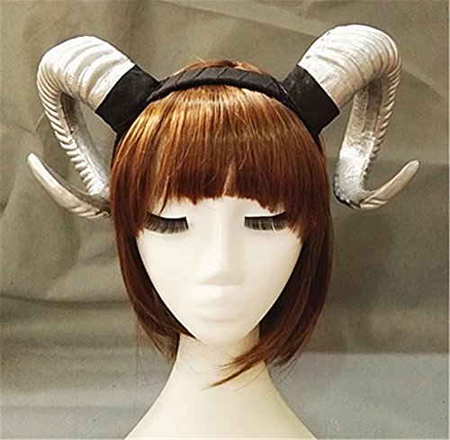 Victorian Sheep Horn Headband Christmas Party Cosplay Horns Headpiece Vintage Steampunk Hair Accessories -