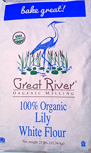 Great River Organic Milling Lily White Bread Flour, 25 Pound