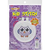 Janlynn Kid Stitch 11 Count Owl Mini Counted Cross Stitch Kit, 3-Inch