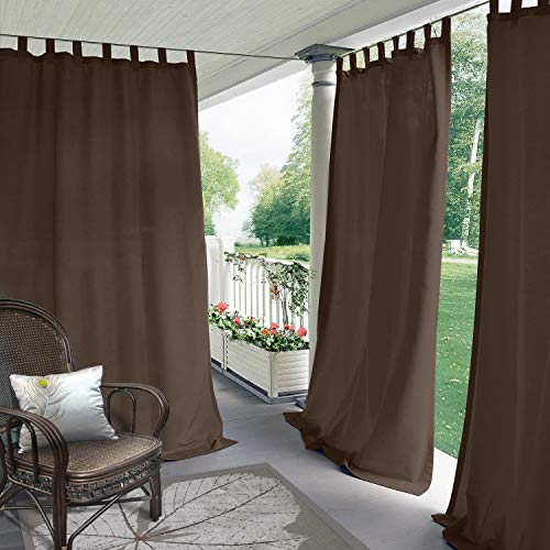 - CosyPages Summer Outdoor Curtains for Front Porch Pergola Cabana Covered Patio Gazebo Dock and Beach Home Noise Reducing Heat Insulated TAP TOP 50