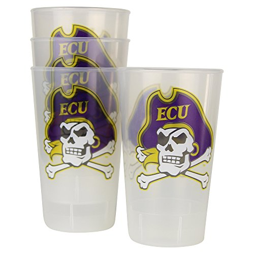 NCAA Frosted Plastic Tailgating Cups, 16oz.(4-Pack) (East...