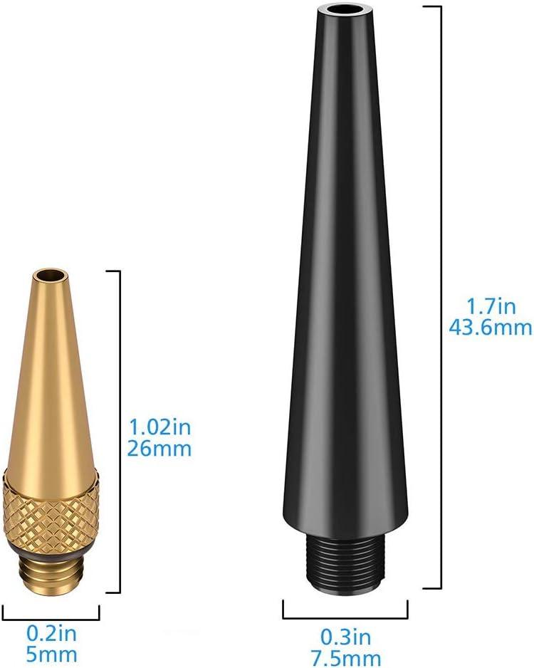 kaakaeu Lot de 15 Pompes /à air pour valves SV AV DV en cuivre et Plastique Adaptateur pour VTT et v/élo de Route