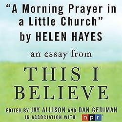 A Morning Prayer in a Little Church