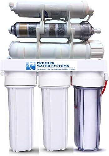 6 Stage Reverse Osmosis ALKALINE Water Filter System Permeate Pump 100GPD