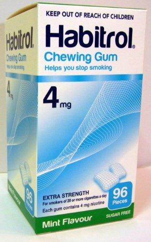 Habitrol Nicotine Gum 3 Boxes 4mg Mint 288 Pieces ()