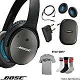Bose QuietComfort 25 QC25 Acoustic Noise Cancelling Headphones Sport Bundle, Samsung and Android Devices, Black