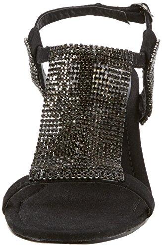 Wedge Lotus Heel Sandals Black Klaudia Chainmail Womens a44xwFz