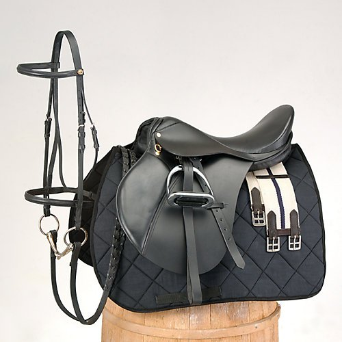 (EquiRoyal Event Saddle Package 18In Black)