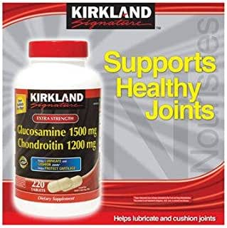 Kirkland Signature Glucosamine HCI 1500mg Chondroitin Sulfate 1200mg 220 Tablets/New Increased Count