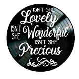 Isn't She Lovely song lyrics by Stevie Wonder on a Vinyl Record Album Wall Art