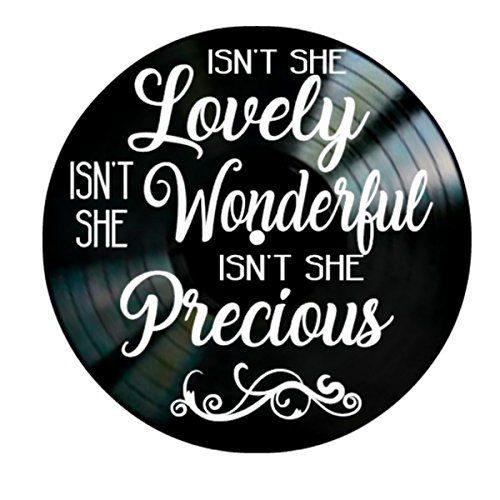 Isn't She Lovely song lyrics by Stevie Wonder on a Vinyl Record Album Wall Art by VinylRevamped