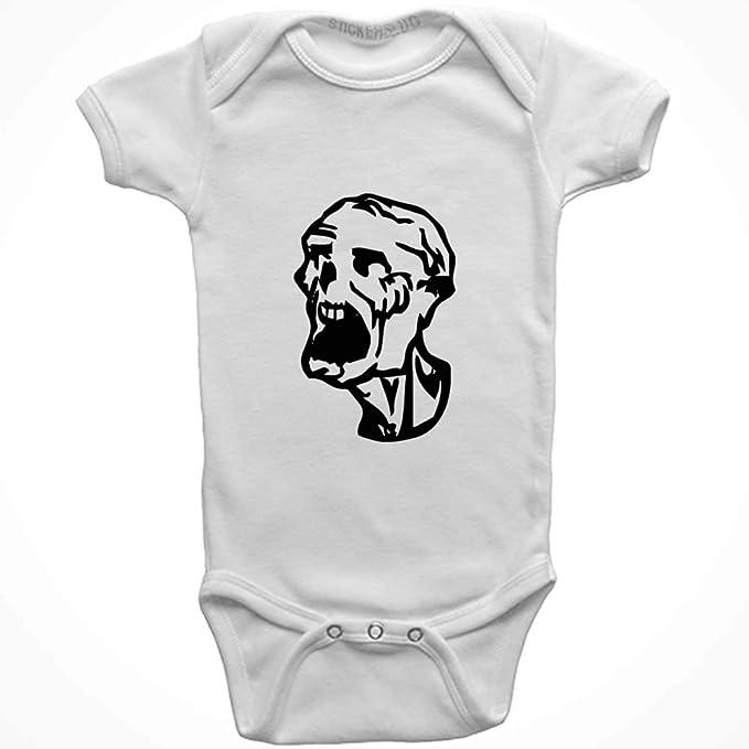 789147ffa Amazon.com  Stickerslug Zombie Onesie Baby Clothes Jumper (White ...