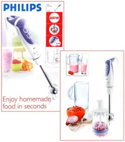 Philips Daily Collection Batidora de varilla - Licuadora (Acero inoxidable, Caucho, 50-60 Hz, 220-240 V): Amazon.es: Hogar