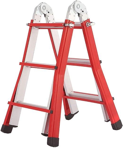 XITER Taburete escalera, Taburete de escaleras de 3/4 escalones Taburete escalonado de aluminio para exteriores con altura ajustable Escalera telescópica plegable para adultos con tapete antideslizant: Amazon.es: Hogar