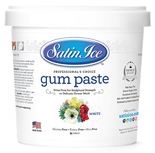 Satin Ice White Gum Paste, Vanilla, 2 Pound