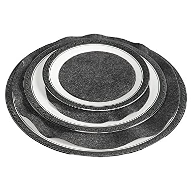 Richards Homewares Felt Plate Separators - Gray by Richards Homewares