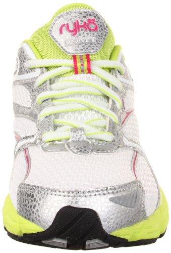 Ryka Womens Revive 3 White/Chrome Silver/Yellow Glow/Zuma Pink ru7qiv