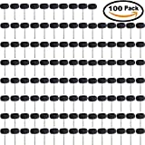 ZFE 25mm Black 300# Abrasive Buffing Polishing Wheels Abrasive Wheels For Proxxon Dremel Rotary Tools-1/8''(3mm) Shank Pack of 100Pcs