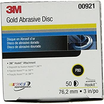 3M Hookit Gold Disc 236U, 00921, 3 in, P80, 50 discs per carton