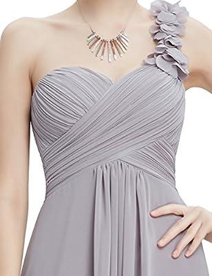 Ever Pretty Flower One Shoulder Empire Waist Floor Length Bridesmaids Dress 09768