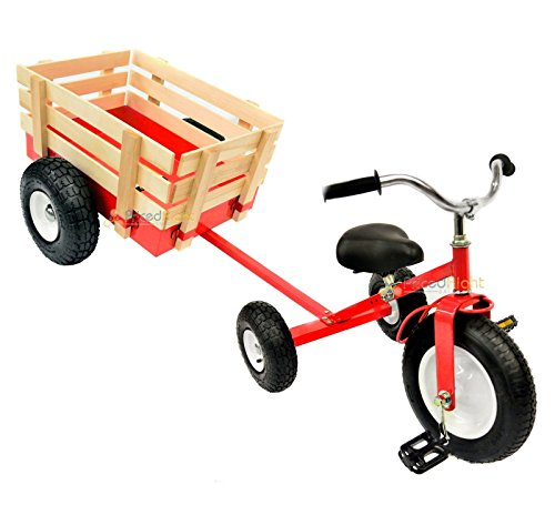 All Terrain Tricycle with Wagon (Red), CART-042R ()