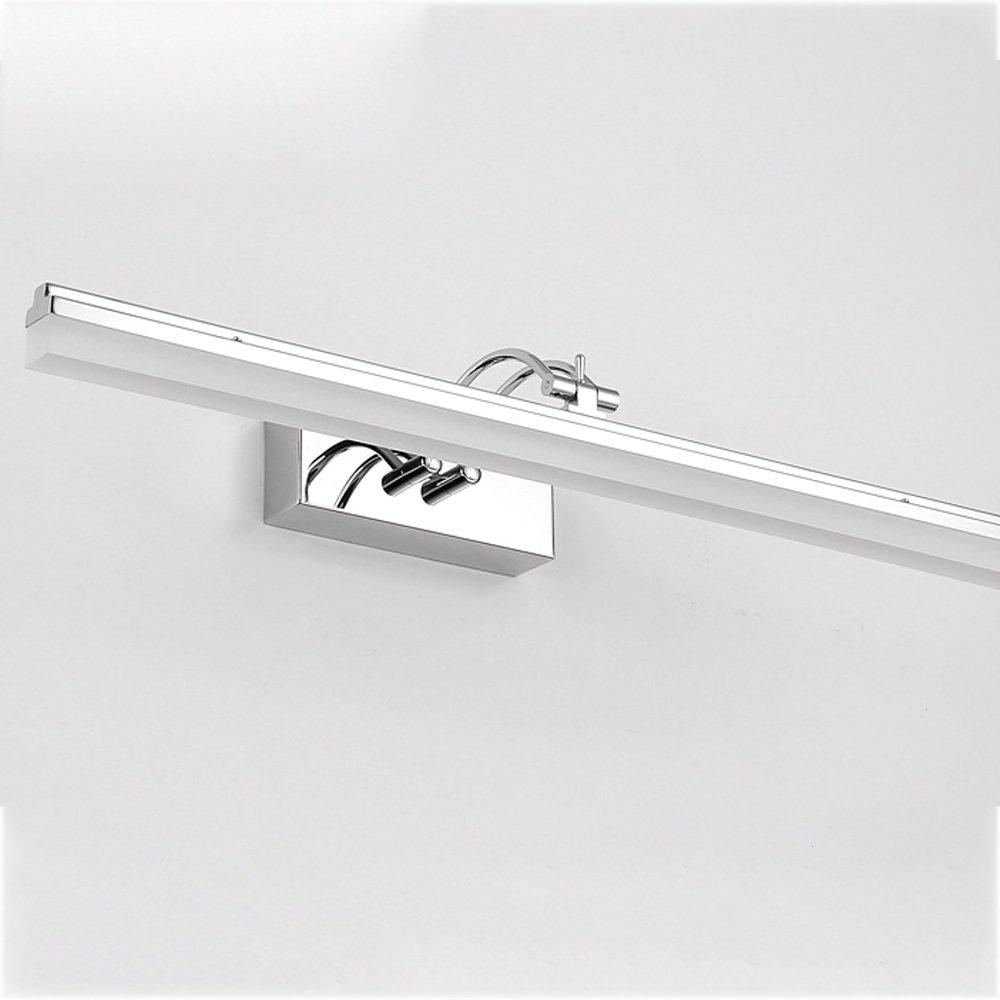 RFJJ LED-Badezimmer-Spiegel-Make-uplampe Wasserdicht und Nebel-Edelstahl-Spiegel-Beleuchtung Spiegel Scheinwerfer